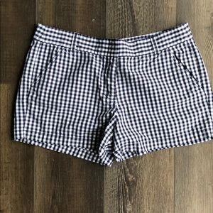 Navy Gingham Shorts